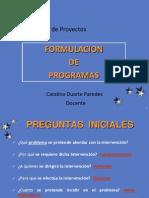 Formulación de Programas
