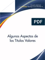 Algunos Aspectos de Los Titulos Valores - Colombia