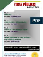 Palestras públicas_novembro_2012