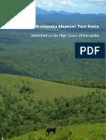Report Karnataka Elephant Task Force