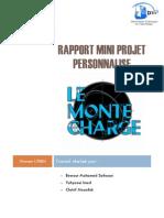 Rapport Mini Projet Personnalisé (Monte-charge)