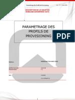 Paramétrage Profils de Provisioning