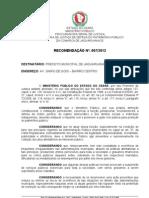 Recomendação 007-2012 - Desmonte Prefeitura
