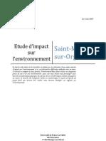 Etude d'Impact Sur l'Environnement - Diagnostic -