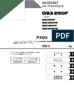Suzuki Across GSX250F Parts Manual Complete