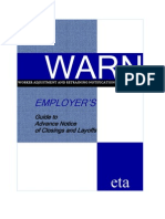 Employer's Guide to Advance Notice of Closings and Layoffs