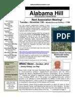 2 Nov 12 Newsletter