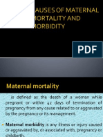 Causes of Maternal Mortality and Morbidity
