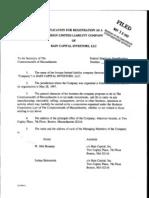 Bain Cap Inv, LLC - 1997 Application for Reg. as a Foreign Ltd. Liability Co.