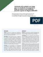 caracterización riesgo biológico estudiantes de pregrado salud