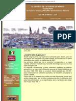 EL ZOCALO DE LA CIUDAD DE MEXICO 4a. Parte, En la época actual, Cuanto mide