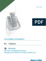 Manual Telefon Fix Philips Cd245