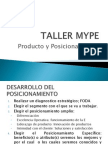 TALLER MYPE - Producto y Posicionamiento