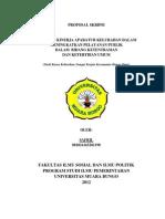 Proposal Skripsi Ilmu Pemerintahan