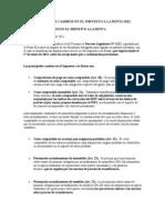Principales Cambios en El Impuesto a La Renta 2012