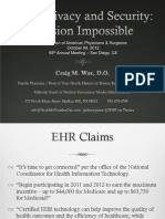 EHR Privacy and Security