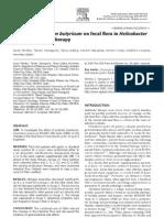 Effect of Clostridium butyricum on fecal fl ora in Helicobacter
