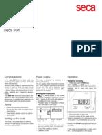 Seca Manuals 334 Instrucciones