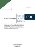 Projet Environnement Aménagement de La Vallée de La Bièvre