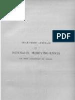 Description des monnaies mérovingiennes par ordre alphabétique des ateliers. T. II