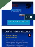 Recomandari Practice Pt. Alegerea Pompelor