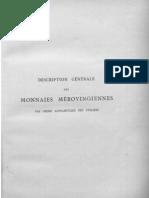Description des monnaies mérovingiennes par ordre alphabétique des ateliers. T. I