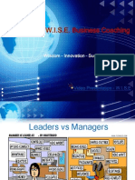 Leaders vs Managers power-point