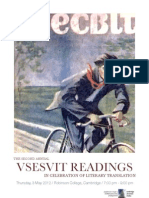 THE SECOND ANNUAL VSESVIT READINGS Programme 2