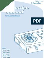 Manual Elextrolux
