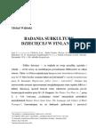 MICHAŁ WALIŃSKI  BADANIA SUBKULTURY DZIECIĘCEJ W FINLANDII Literatura Ludowa 1984 nr 4,5,6