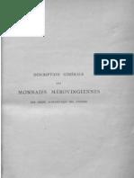 Description des monnaies mérovingiennes par ordre alphabétique des ateliers. T. V / publ. d'après les notes manuscrites de M. Le Vicomte de Ponton d'Amécourt ; par A. de Belfort