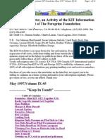 KIT May 1997, Vol IX #5 New 5-11-97