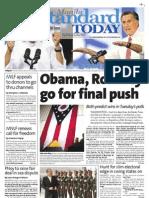 Manila Standard Today - Monday (November 5, 2012) Issue