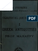 Greek Antiquities 1889 - Prof. Mahaffi
