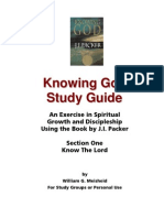 Knowing God Study Guide - Section One