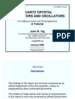 Tutorial (Quartz Crystal Resonators and Oscillators) [John r. Vig]