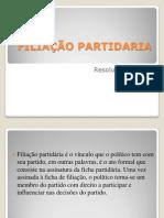 FILIAÇÃO PARTIDARIA