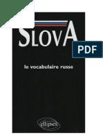 Langue Russe Vocabulaire 25 000 mots par thèmes Slova Ellipses