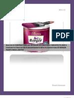Summer Internship Project Report Berger Paints Marketring