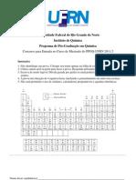 Prova-Mestrado_PPGQ-UFRN_2011.2