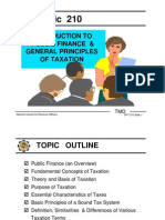 Intro to Public Finance and General Principle of Taxation