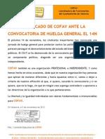 2012-11-05 Comunicado Huelga General 14-N