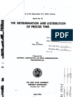 The Determination and Distribution of Precise Time