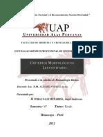Criterios Morfológicos Leucocitario