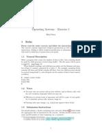 מערכות הפעלה- תרגיל בית 1 | 2013
