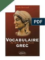 Langue Grec Vocabulaire Grec 20 000 Mots Ellipses