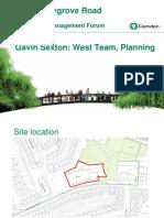 Maygrove Road DM Forum Planning Officer Presentation