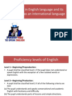Proficiency in English Language