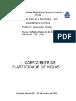 Relatório 3 - Coeficiente de Elasticidade de Molas