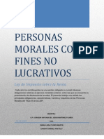 Personas Morales Con Fines No Lucrativos